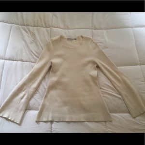 & Other Stories Cream Sweater with Bell Sleeves M